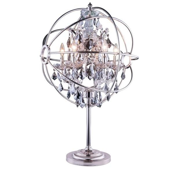 Royce Edge 6 light Polished nickel Table Lamp
