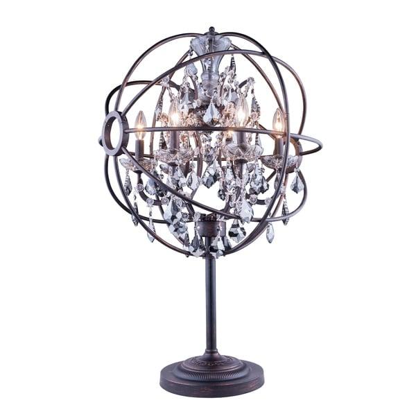 Royce Edge 6 light Dark Bronze Table Lamp
