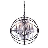 Royce Edge 6-Light Dark Bronze Chandelier