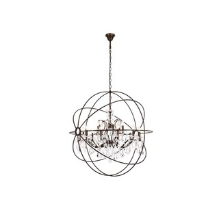 Royce Edge 18-Light Dark Bronze Chandelier
