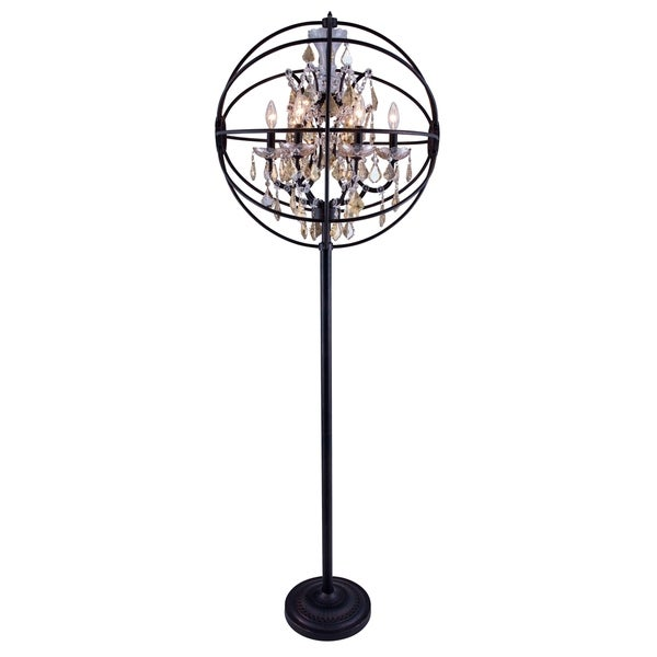 Royce Edge 6 light Dark Bronze Floor Lamp