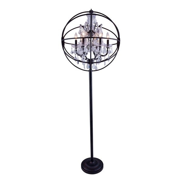 Royce Edge 6-Light Dark Bronze Floor Lamp