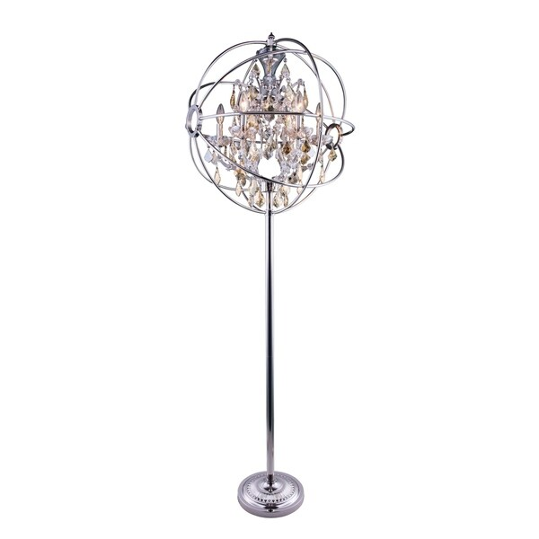 Royce Edge 6-Light Polished Nickel Floor Lamp
