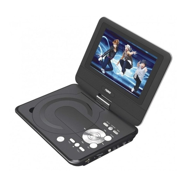 9 TFT LCD Swivel Screen Portable DVD Player With USB SD MMC Inputs