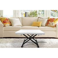 Minimax Decor White Glass Extendable Coffee Table