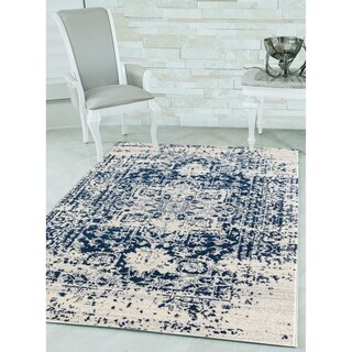 "Westfield Home Versailles Bennett Midnight Blue Area Rug - 7'10"" x 10'6"""