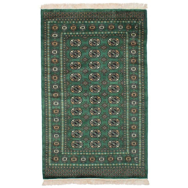 Shop ECarpetGallery Hand-knotted Peshawar Bokhara Teal