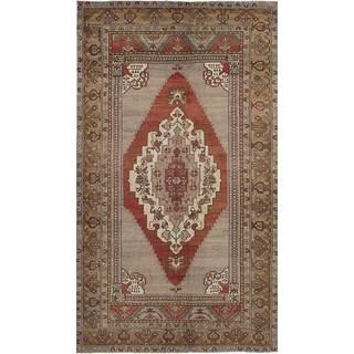 eCarpetGallery Hand-knotted Anatolian Vintage Light Grey Wool Rug (5'8 x 10'6)