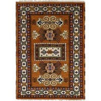 eCarpetGallery  Hand-knotted Royal Kazak Copper Wool Rug (4'1 x 6'1)