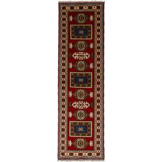 eCarpetGallery Hand-knotted Royal Kazak Red Wool Rug (2'8 x 9'10)