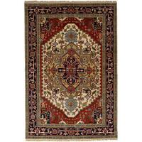 eCarpetGallery  Hand-knotted Serapi Heritage Red Wool Rug (6'0 x 9'3)