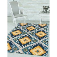 "Westfield Home Versailles Titania Midnight Blue Area Rug - 7'10"" x 10'6"""
