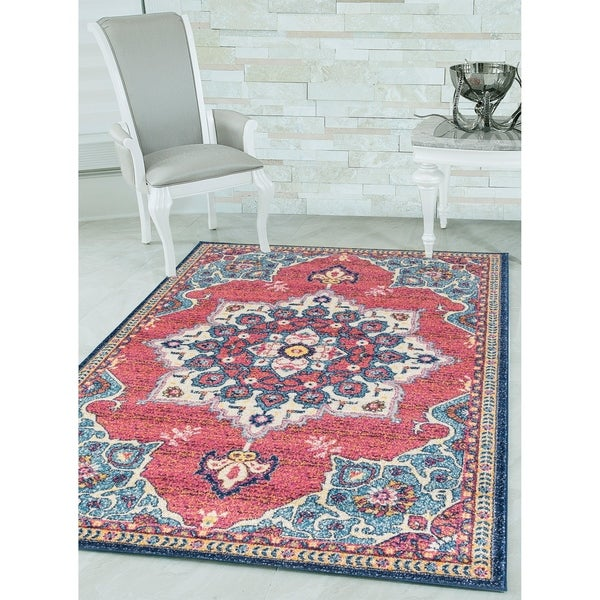 Westfield Home Versailles Cambridge Midnight Blue Accent Rug - 1&#x27 ...