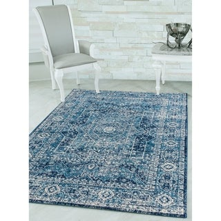 "Westfield Home Versailles Jolenta Midnight Blue Area Rug - 7'10"" x 10'6"""