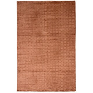 eCarpetGallery Hand-knotted Galleria Copper Silk Rug (5'0 x 7'11)