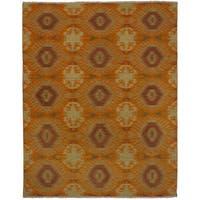 eCarpetGallery  Flat-weave Kashkoli Kilim Orange Wool Kilim (8'0 x 10'0)