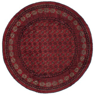 eCarpetGallery Hand-knotted Khal Mohammadi Red Wool Rug (8'3 x 8'3)