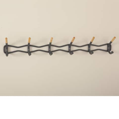 Safco Steel Family Coat Wall Rack with 6 Hook - Charcoal