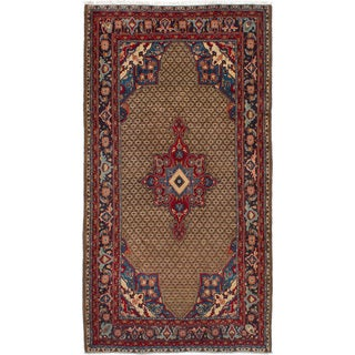 eCarpetGallery  Hand-knotted Koliai Brown Wool Rug (5'1 x 9'7)