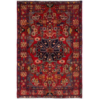 eCarpetGallery Hand-knotted Nahavand Red Wool Rug (5'1 x 7'7)