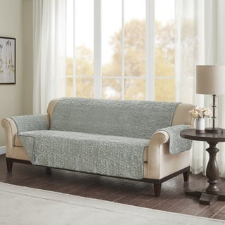 Madison Park Syracuse Embroidered Faux Fur Sofa Protector