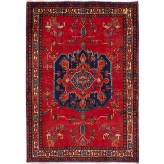 eCarpetGallery Hand-knotted Afshar Red Wool Rug (5'2 x 7'3)