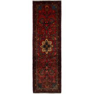 eCarpetGallery Hand-knotted Hamadan Dark Copper Wool Rug (2'11 x 9'7)