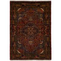 eCarpetGallery  Hand-knotted Touserkan Dark Copper Wool Rug (3'6 x 5'0)