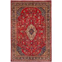 eCarpetGallery  Hand-knotted Hamadan Red Wool Rug (6'6 x 9'11)