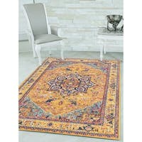 "Westfield Home Versailles Adelina Burnt Orange Oversize Rug - 12'6"" x 15'"