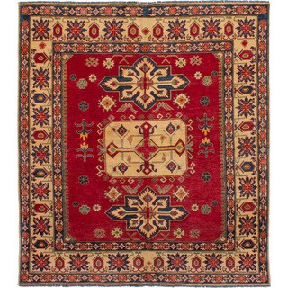 eCarpetGallery Hand-knotted Finest Gazni Red Wool Rug (7'2 x 8'2)