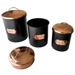 Copper Kitchen Food Canister Set of 3 by Kauri Design