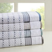 Madison Park Nikola 6-piece Cotton Yarn Dyed Towel Set