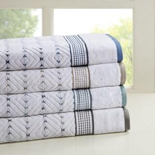 Madison Park Nikola 6-piece Cotton Yarn Dyed Towel Set