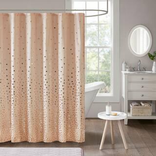 Intelligent Design Liv Printed Shower Curtain 3 Color Option