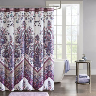 Intelligent Design Layne Printed Shower Curtain 2 Color Option
