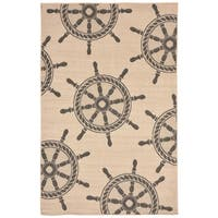 Nautical Wheel Outdoor Rug - 7'10 x 9'10