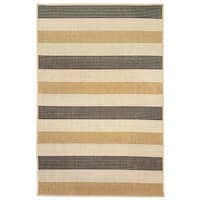 Band Stripe Grey/Charcoal Outdoor Rug - 7'10 x 9'10