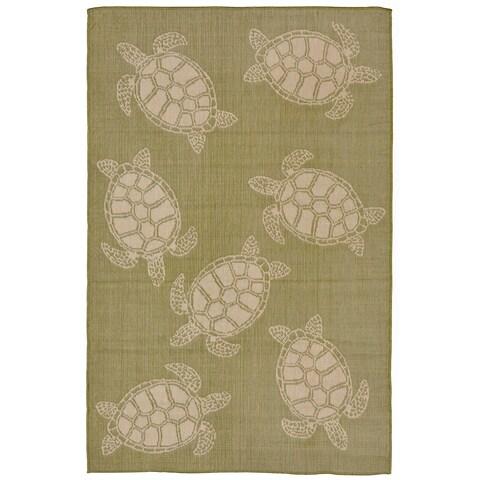 Tortoise Outdoor Rug (7'10 x 9'10) - 7'10 x 9'10
