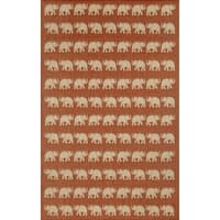 Marching Elephants Outdoor Rug - 3'3 x 4'11