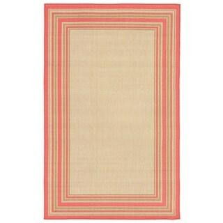 Liora Manne Shadow Border Outdoor Rug (3'3 x 4'11) - 3'3 x 4'11