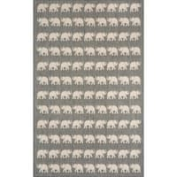 Marching Elephants Outdoor Rug (3'3 x 4'11) - 3'3 x 4'11