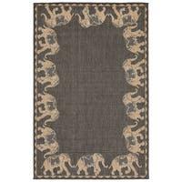 Elephant Parade Outdoor Rug (3'3 x 4'11) - 3'3 x 4'11