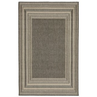 Line Border Outdoor Rug - 1'11 x 2'11