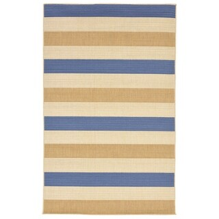 Band Striped Multicolor Outdoor Area Rug - 7'10 x 9'10