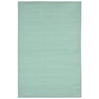 Weave Turquoise Outdoor Area Rug (7'10 x 9'10)