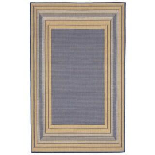 Liora Manne Line Border Outdoor Rug (1'11 x 7'6) - 1'11 x 7'6