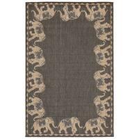 Elephant Parade Outdoor Rug (4'10 x 7'6) - 4'10 x 7'6