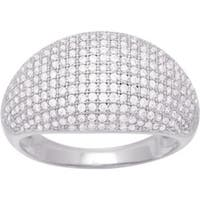Sterling Silver Ring  with Cubic Zirconia, Size 7