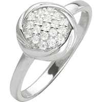Sterling Silver Ring  with Cubic Zirconia, Size 6